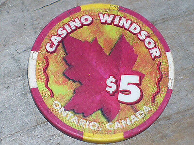 $5 Gaming Chip From The Casino Windsor Casino, Ontario Canada