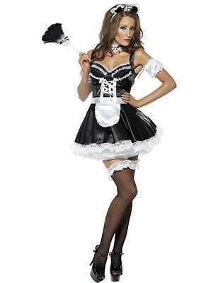 Sexy Halloween French Maid Costume Black&White Waiter Outfit Party Fancy Dress M