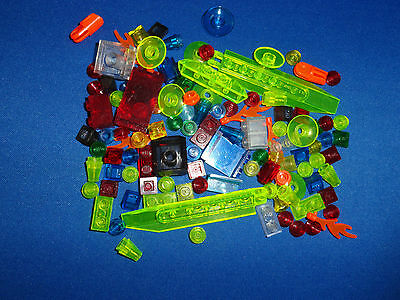 LEGO QTY 100+ MISC TRANS PIECES LIGHTS VEHICLE HOUSE CITY SPACE TRAIN CAR TRUCK