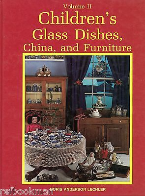 Children Toy China Glass Dishes Furniture Accessory Items / Scarce Book + Values