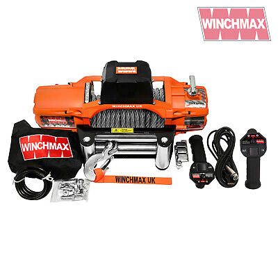 ELECTRIC WINCH 12V 4x4 13500 lb SL WINCHMAX BRAND WITH WIRELESS REMOTE FEATURE