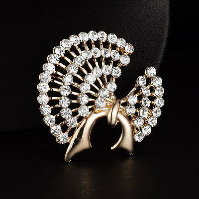1P Special Full Rhinestone Crystal Elegant Brooch Pin Wedding Party Jewelry Gift