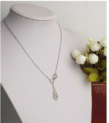 New Fashion Elegant Charm Metal Silver Lucky Eight Luck Hand Fatima Necklace