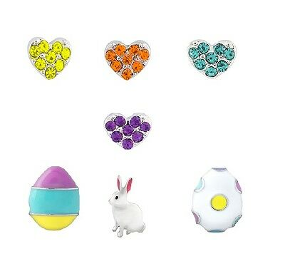NEW Authentic Origami Owl Easter 2015 Limited Edition 7 Charms Bunny Egg Heart