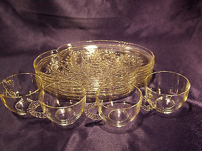 Federal Clear Glass Hospitality Snack Set of 8 Pieces Lot