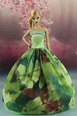 Fashion Princess Party Dress/Wedding Clothes/Gown For Barbie Doll y27P7