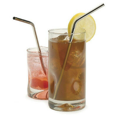 Stainless Steel Metal Drinking Straw. Chrome Cocktail Drinking Straws Reusable