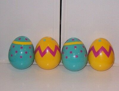 4 Fisher Price Little People Blue & Yellow Easter Eggs New