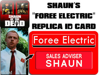 Shaun of the Dead Foree Electric Replica PVC ID card