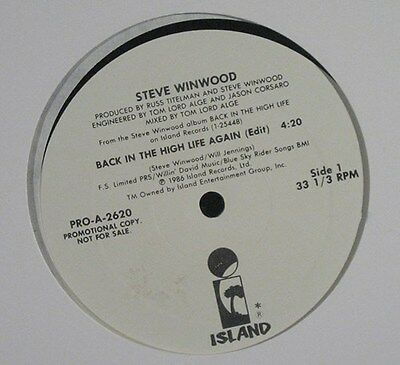 STEVE WINWOOD – Back in the High Life Again 1986 PR 12""