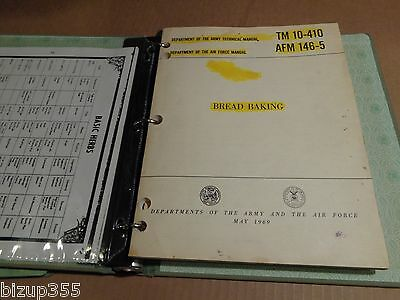 Dept. of the Army Manual TM Manuals 5 LOT 1966-1981~SOLDIERS COMMON TASKS-BAKING