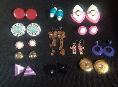 Lot Of 13 Pairs Of Vintage To Modern Earrings All Wearable Free Shipping!