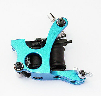 Pro New Aluminum Alloy Tattoo Machine Gun for Liner And Shader 8 Wraps Coil