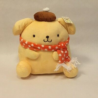 "New Pompompurin Pudding Purin 12"" (30cm) Plush with Orange Dot Scarf"