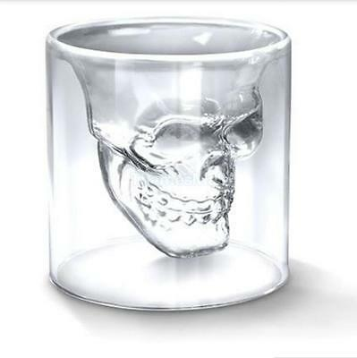 73ml Crystal Skull Head Vodka Whiskey Glass Cup for Party Bar Fun Drinking Ware