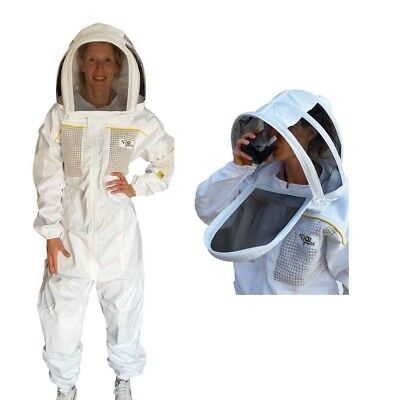 "Oz Armour Beekeeping Suit ""Premium"" Semi Vented Heavy Duty With Optional Gloves"