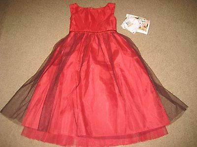 NWT Girl Sweet Heart Rose Red Holiday Dress 6X
