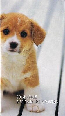 PUPPIES DOGS 2014-2015 - 2 YEAR POCKET CALENDAR PLANNER AGENDA APPOINTMENT BOOK☼