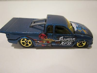 Hot Wheels Chevy Pro Stock S10 Pickup blue with Shaman King Anime logos