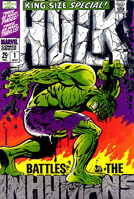 "Hulk King Size Special #1 20x30"" Classic Cover 1968 Print NOT A POSTER"