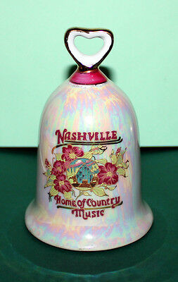 Nashville Home of Country Music Bell 4.5 inches tall 3 inches wide base D1
