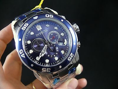 New Invicta Men's 0070 Pro Diver Collection Stainless Steel Watch Link Bracelet