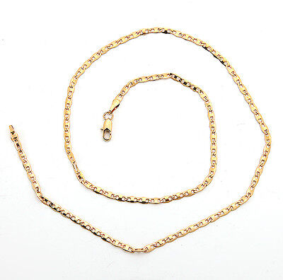 Elegant 18K Solid Yellow Gold Filled GF Necklace Chain For Man As Gifts C149