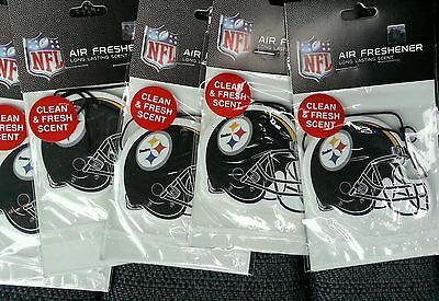 Five Official Licensed NFL Air Freshener Pittsburgh Steelers Ben Roethlisberger