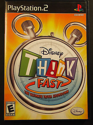 Disney Think Fast Playstation 2 game with Game Booklet