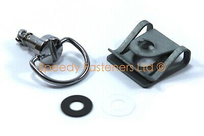 12No Dzus Snap In Steel Receptacle Size 6 ZYP. Quarter-Turn Fasteners