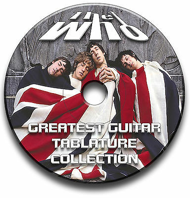 The Who Rock Guitar Tabs Tablature Song Book Software Anthology Cd