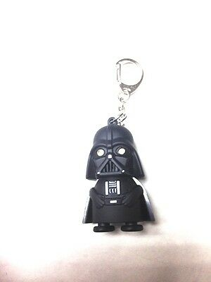 "MODERN BLACK ""DARTH VADER""  CARTOONS & CHARACTERS  RING LIGHT  & SOUND KEYCHAIN"