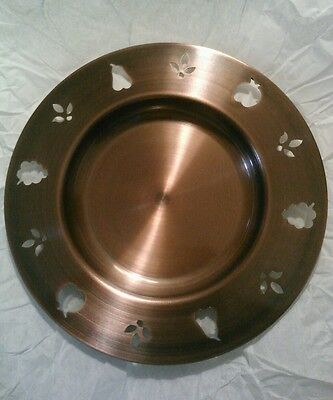 Antique copper pillar plate. Candle holder drip dish tray.NWT