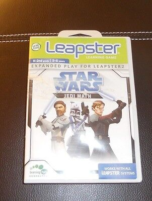Leapster Star Wars Jedi Math Game Cartridge K-2nd Grade Ages 5-8  Learning Game