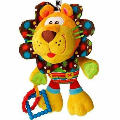 baby toy playgro cute lion multi-touch multi-purpose rattle bed hang gift