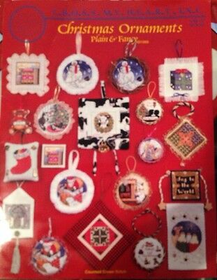 NEW Counted Cross Stitch Christmas Ornaments Booklet 20 Designs