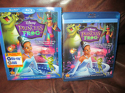 The Princess and the Frog - Disney (Blu-ray/DVD, 2011, 2-Disc Set) Brand New