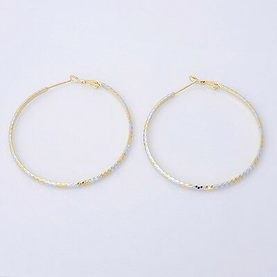 Gorgeous 14K Solid Yellow Gold Filled Hoop Style Womens Jewelry Earrings E010