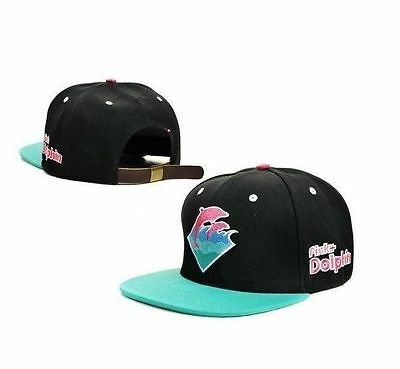 NEW HOT!! Pink Dolphin Leopard HipHop Adjustable Snapback Style Baseball Hat/cap