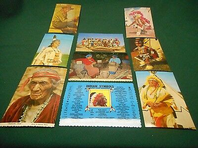 Lot of 9 Vintage Native American Indian Postcards ~ Will Rogers UNPOSTED RPPC