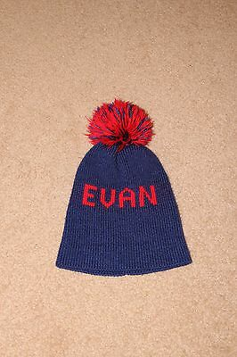 Baby Kids boys Infant Toddler Wool knitted Beanie Hat Cap personalized Evan