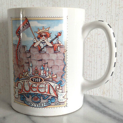 Mary Engelbreit The Queen of Everything Mug Cup Coffee Tea Red White Checkered