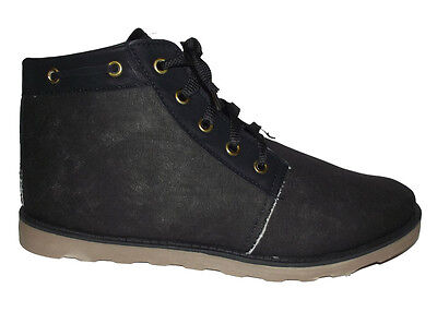 NEW Black Lace up Canvas Sneakers CASUAL FASHION ANKLE Boots MENS SHOES Size 8.5