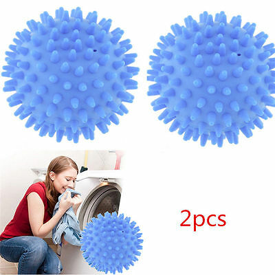 No Chemicals Washing Laundry Drying Fabric Softener Cloth Dryer 2pcs Balls