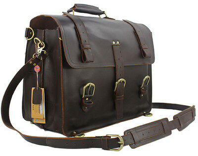 Vintage Crazy Horse Leather men's Travel backpack luggage travel bags duffle bag