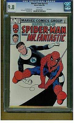 MARVEL TWO IN ONE #132  CGC 9.8 MINT WHITE PAGES MR. FANTASTIC & SPIDER-MAN 1983