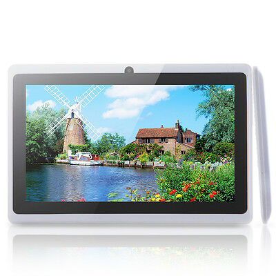 """7"""" Google Android 4.2 A23 8GB 212MB/DDR3 Dual Core Tablet PC Cameras Wifi White"""