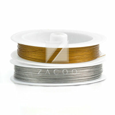 1 Roll 65m New Stainless Steel Beading Wire Jewelery Craft Making 0.38mm/0.45mm