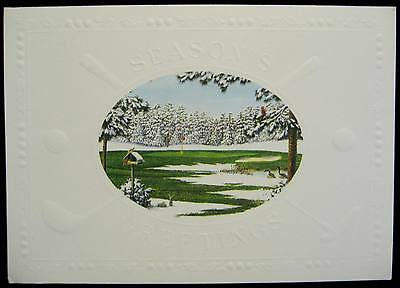 Vintage Christmas Greeting Card Embossed On The Green Artist Guy Crittenden