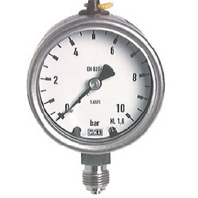 100 mm Stainless Steel Manometer 0/100 Bar Chemical Industry